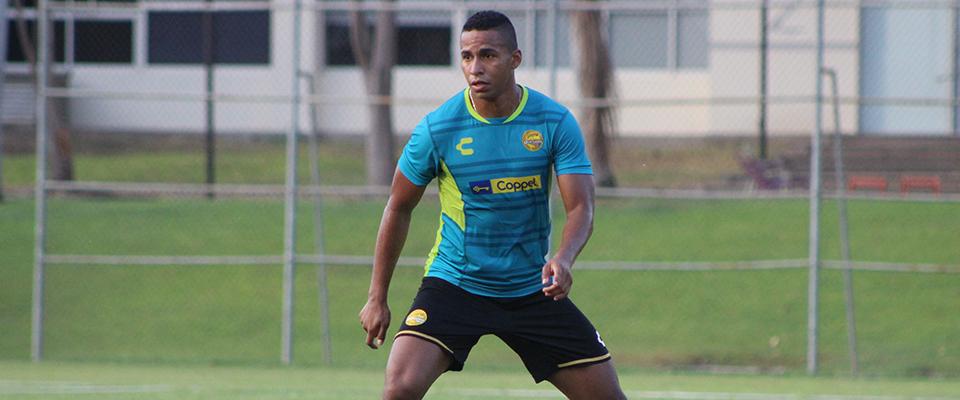 El delantero colombiano durante el Trabajo Dorado