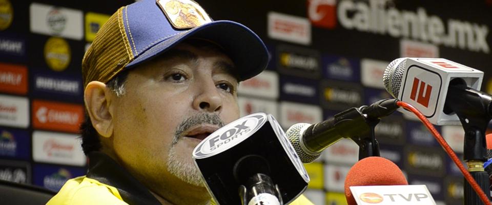 Diego Armando Maradona en Conferencia de Prensa